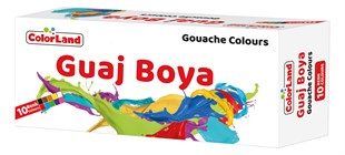 Colorland 10 Renk Guaj Boya 15Ml
