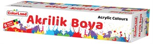 Colorland 6 Renk Akrilik Boya 15 Ml