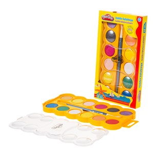 Play-Doh Suluboya Jumbo 12 Renk 40 Mm.