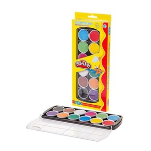 Play-Doh Suluboya Tablet 12 Renk 30 Mm.