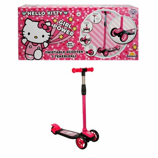 Sunman Hello Kitty 3 Tekerlekli Twistable Scooter